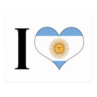 I corazón la Argentina - amor la Argentina de I - Postal