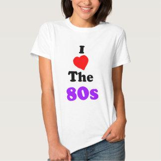 I corazón la camiseta de los años 80 playera
