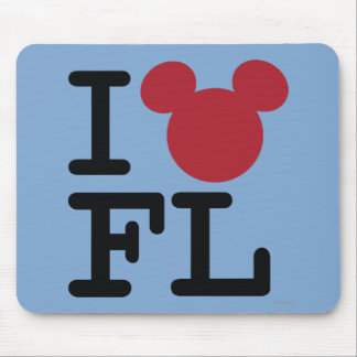 I corazón la Florida Tapete De Ratones