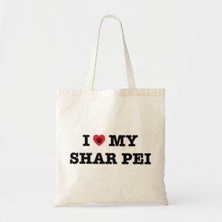 I corazón la mi bolsa de asas de Shar Pei