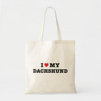I corazón la mi bolsa de asas del Dachshund
