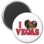 I corazón Las Vegas Imanes De Nevera