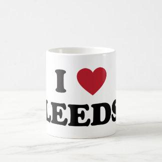 I corazón Leeds Inglaterra Taza