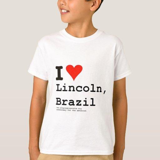 I corazón Lincoln Playera