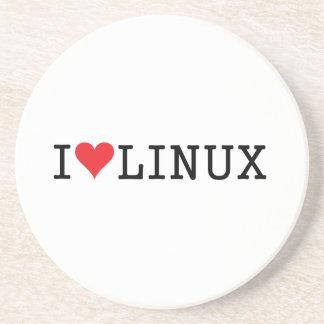 I corazón Linux 2 Posavasos Para Bebidas