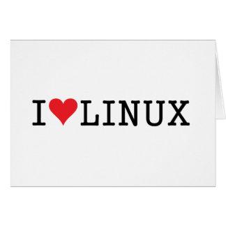 I corazón Linux 2 Tarjeta De Felicitación