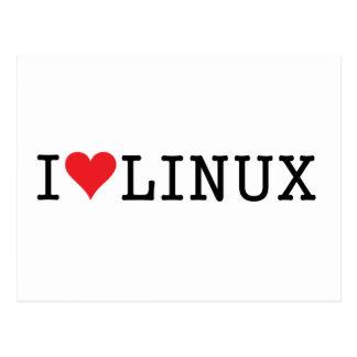 I corazón Linux 2 Tarjeta Postal