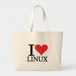 I corazón Linux Bolsas Lienzo