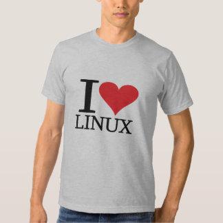 I corazón Linux Camisas