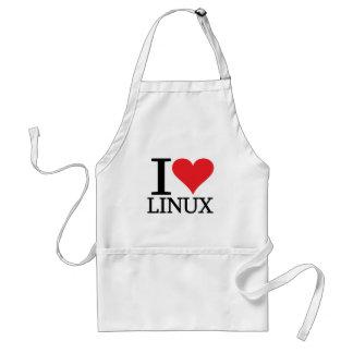I corazón Linux Delantal