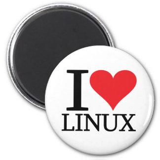 I corazón Linux Imán Redondo 5 Cm