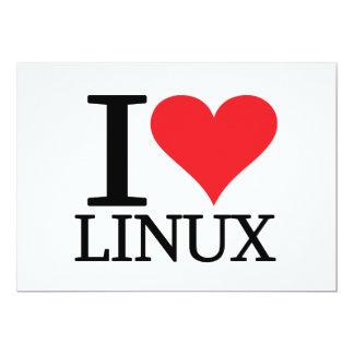 """I corazón Linux Invitación 5"""" X 7"""""""