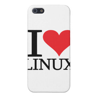 I corazón Linux iPhone 5 Protector