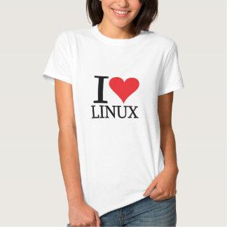 I corazón Linux Playera