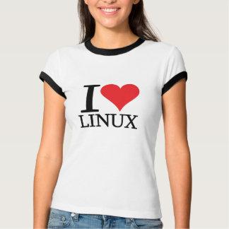 I corazón Linux Poleras