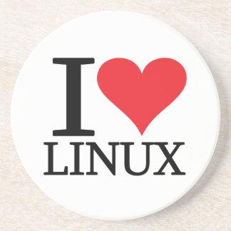 I corazón Linux Posavasos Manualidades
