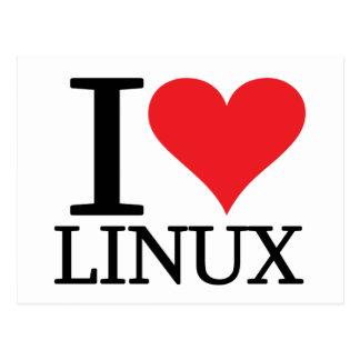 I corazón Linux Postales