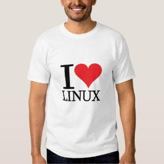 I corazón Linux Remeras
