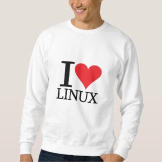 I corazón Linux Sudadera