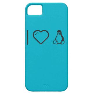 I corazón Linuxs iPhone 5 Case-Mate Cárcasa