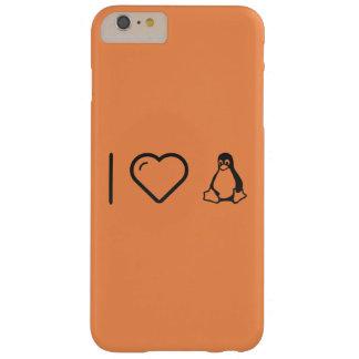 I corazón Linuxs Funda De iPhone 6 Plus Barely There