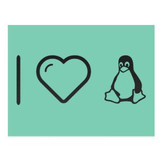 I corazón Linuxs Tarjeta Postal