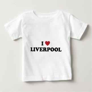 I corazón Liverpool Inglaterra Playera De Bebé