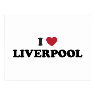 I corazón Liverpool Inglaterra Postal