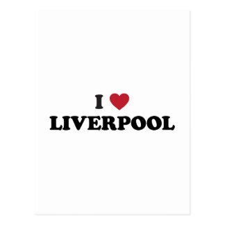 I corazón Liverpool Inglaterra Postales
