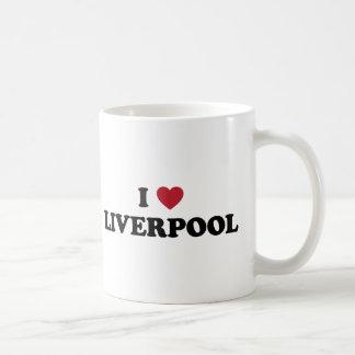 I corazón Liverpool Inglaterra Taza De Café