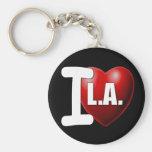 I corazón Los Ángeles - LA del amor de I Llavero Redondo Tipo Pin