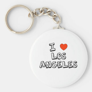 I corazón Los Ángeles Llavero Redondo Tipo Pin