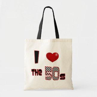 I corazón los años 50 bolsa tela barata