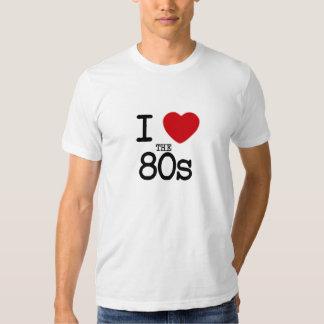 I corazón los años 80 playeras