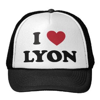 I corazón Lyon Francia Gorro De Camionero