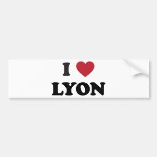 I corazón Lyon Francia Pegatina Para Auto