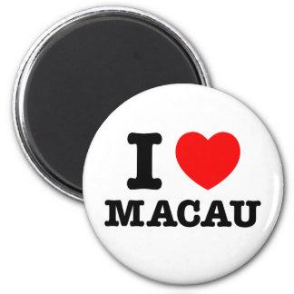 I corazón Macao Imán Para Frigorífico