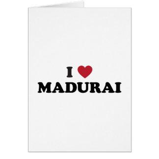 I corazón Madurai la India Tarjeta De Felicitación