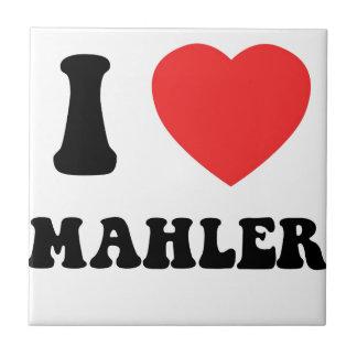 I corazón Mahler Azulejo Cuadrado Pequeño