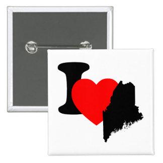 I corazón Maine Pin