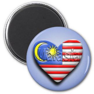I corazón Malasia Imán Redondo 5 Cm