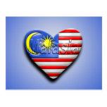 I corazón Malasia Postal