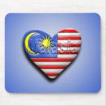 I corazón Malasia Tapetes De Raton