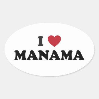 I corazón Manama Bahrein Colcomanias Óval