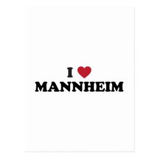 I corazón Mannheim Alemania Postal