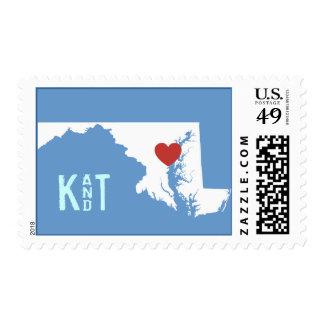 I corazón Maryland - sello adaptable de la ciudad