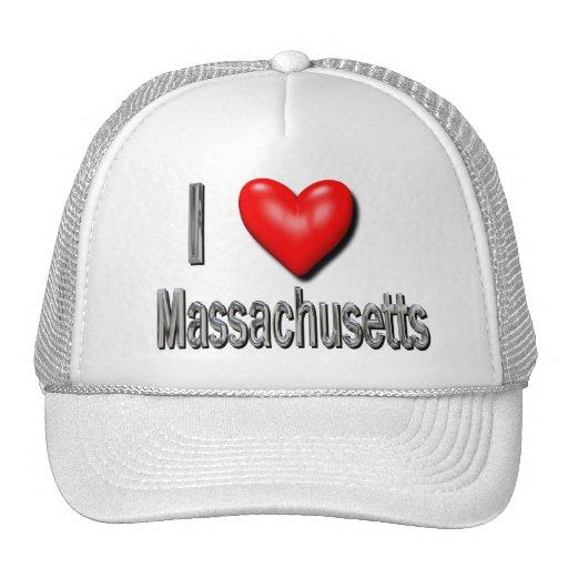 I corazón Massachusetts Gorros