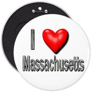 I corazón Massachusetts Pin Redondo De 6 Pulgadas