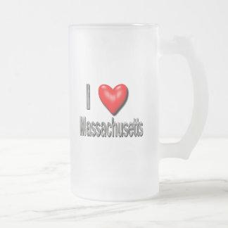 I corazón Massachusetts Taza Cristal Mate