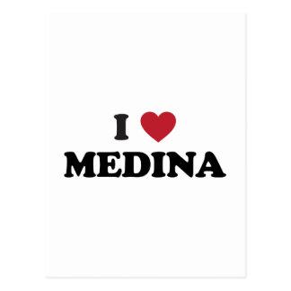 I corazón Medina la Arabia Saudita Postal